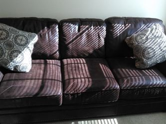 Leather Sleeper Sofa Slightly Used for Sale in St. Louis,  MO