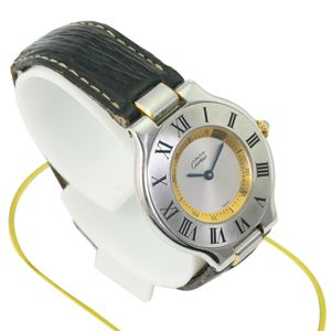 Cartier Must De Cartier 21 Ref. 1330 St.Steel & 18K Gold Plated Leather Band for Sale in Los Angeles, CA