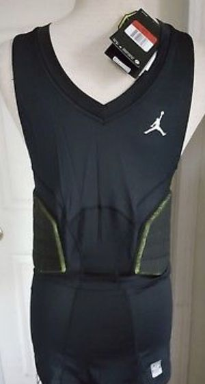 3497f31abe0f NIKE JORDAN PRO COMBAT COMPRESSION BLACK TANK TOP WITH PAD 629899-011 Size  XLT for