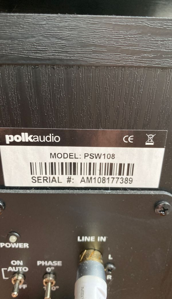 Almost New! Polk Subwoofer - Model PSW108