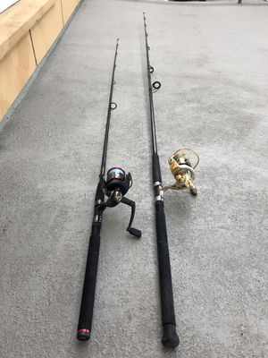 2 fishing rods for Sale in Los Angeles, CA