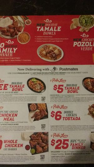 FREE, COUPONS, EL POLLO LOCO for Sale in West Covina, CA