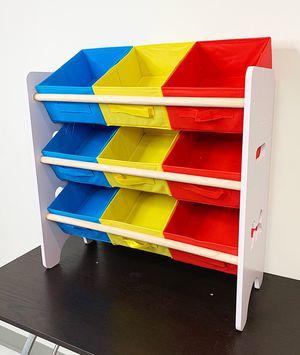 "$25 NEW Small Kids Toy Storage Organizer Box Shelf Rack Bedroom w/ 9 Removeable Bin 24""x10""x24"" for Sale in Montebello, CA"