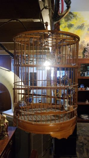 Asian Bamboo songbird cage, China Japan ? for Sale in Vista, CA