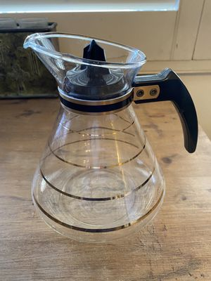 Vintage Coffee carafe with gold stripes, in good condition for Sale in Scottsdale, AZ