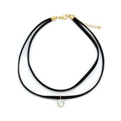 Fashion double chain single circle crystal choker for Sale in Redwood City,  CA