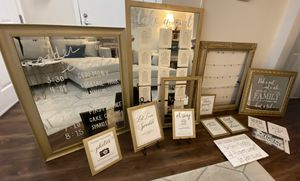 Wedding Signage, Frames, Mirrors for Sale in San Jose, CA