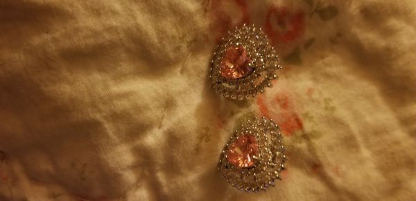 Pink with Diamonds Earrings