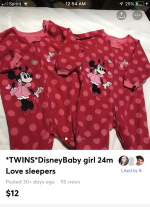 *TWINS*DisneyBaby girl 24m Love sleepers for Sale in Bethlehem, PA