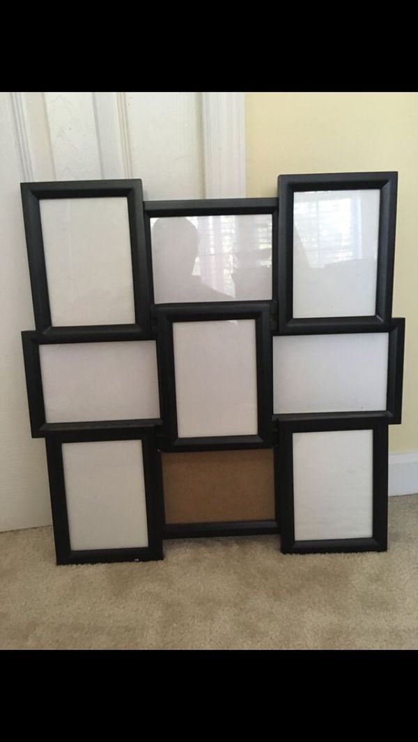 9 opening collage frame(black)
