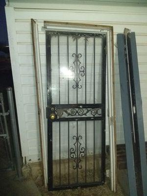 Security Door with Steel Door Frame for Sale in Oklahoma City, OK