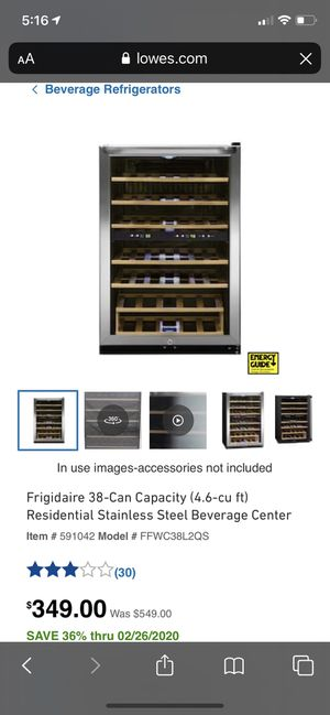 Frigidaire 38-Can Capacity (4.6-cu ft) Residential Stainless Steel Beverage Center, new in box for Sale in Lexington, KY