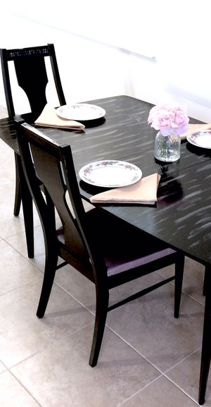 Luxury dining table and 4 soft cushion chairs in excellent condition for Sale in Delray Beach, FL