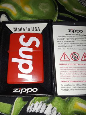 Supreme Zippo lighter for Sale in West Sacramento, CA