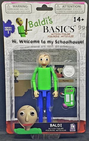 Baldis Basics BALDI Action Figure Series 1 PhatMojo - 5 inches - NEW in PACKAGE for Sale in Harrisonburg, VA