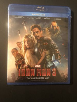 Iron Man 3 Blu Ray and Dvd Sealed for Sale in Los Angeles, CA