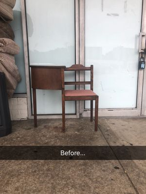 Antique Telephone Table and Chair for Sale in Alexandria, VA