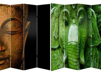 Oriental Furniture 6 ft. Printed 4-Panel Room Divider for Sale in West Covina,  CA