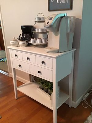 Small ivory console table with drawers for Sale in St. Louis, MO