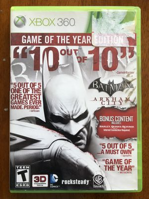 Batman Arkham City-Game id the Year Edition XBOX 360 for Sale in Fresno, CA