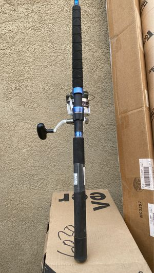 Large fishing rod Sabre and 5000 daiwa reel with 65 lbs new braid for Sale in Villa Park, CA