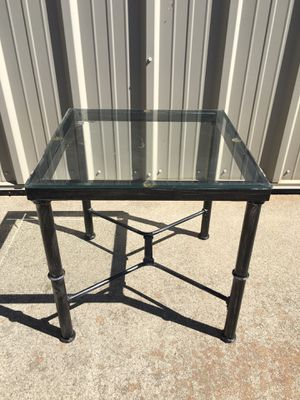 Metal side table with glass top for Sale in Chico, CA