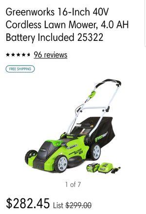 Green works Electric Lawnmower for Sale in Woodbridge, VA