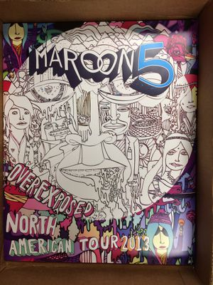Maroon 5 Overexposed concert poster 2013 for Sale in San Jose, CA
