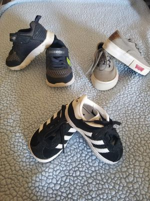 Skechers,levis,adidas toddler shoes size 4 for Sale in Little Rock, AR