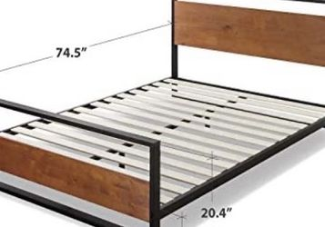 Brand New Suzanne Metal and Wood Platform Bed with Headboard and Footboard, Chestnut Brown, Full for Sale in Los Angeles,  CA