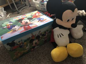 Mickey Mouse toybox and a big mickey for Sale in Fort McDowell, AZ