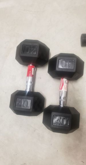 Brand new set of 40lbs hex dumbbells for Sale in Fayetteville, NC