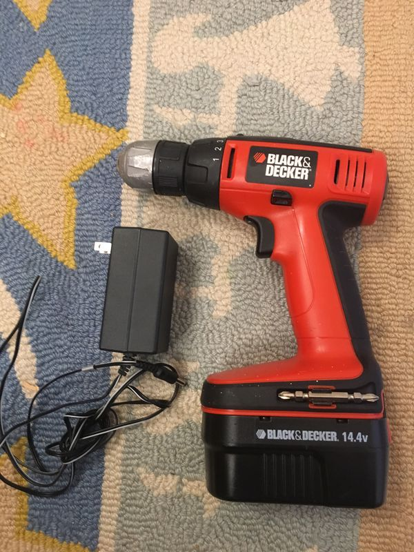 Black & Decker 14.4v Cordless Power Tool with Charger