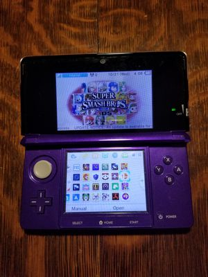 Nintendo 3DS Purple 30+Games/32GB/Charger for Sale in Scituate, RI