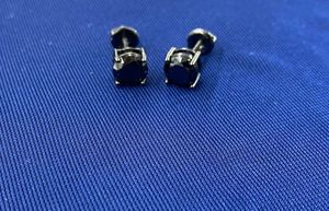 7mm Black Diamond 925-Silver Studs for Sale in Tucker, GA