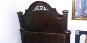 Queen bed with dresser and mirror and nightstand with brand new mattress for Sale in Los Angeles, CA