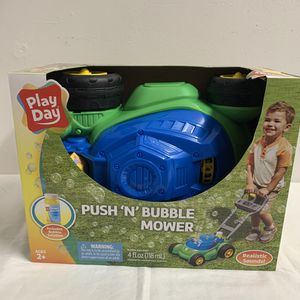 Play Day Push N Bubble Mower Lawn Toy Kids Pretend Play Yard Outdoor Outside NEW for Sale in Hialeah, FL