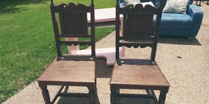 2 antique king dining room chairs for Sale in DeSoto, TX