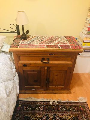 Rustic solid pine handmade end table for Sale in San Francisco, CA