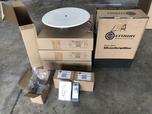 Audio package - Speakers and Amp for Sale in Bakersfield, CA