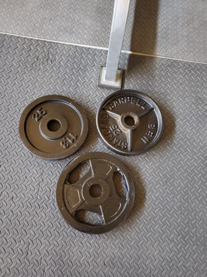 3 - 25lb OLYMPIC PLATES $70 for Sale in Fresno, CA