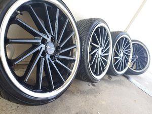 "22"" Giovanna Wheels Spira FF Gloss Black Rims W/ LX-Seven 225/35ZR20 All Season Low Profile Sport Tires for Sale in Denver, CO"