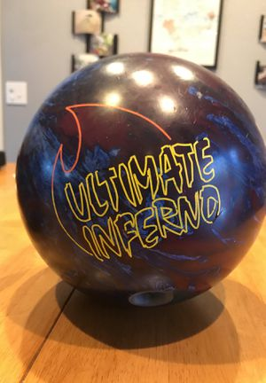 Ultimate inferno bowling ball (weight 13 pounds) heavy curve for Sale in Anchorage, AK