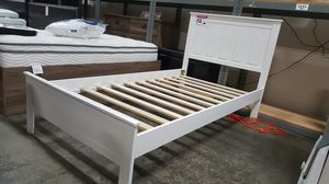 NEW, Full Wood Bed Frame with Slats, White, SKU# 7582F-WH for Sale in Huntington Beach, CA