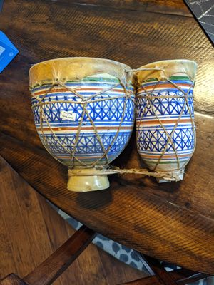 Hand Made Moroccan Ceramic Drum Set for Sale in Tracy, CA