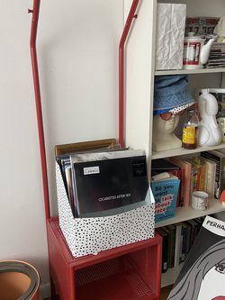 Ikea Red Mini Clothes Hanger/ Cubby Shelf for Sale in Brooklyn,  NY