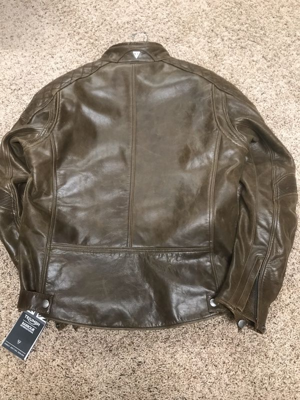 Triumph Leather Motorcycle Jacket-Armored-Brand New