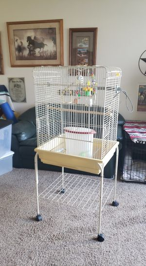 Brid cage and supplies for Sale in Meridian, ID