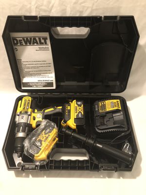 Brand new never used Dewalt XR 20V brushless 3 speed hammer drill tool set, with hard case for Sale in Vacaville, CA
