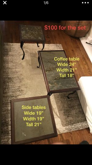Coffee table and End table set $50 for Sale in Chicago, IL